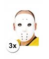 3 ijshockey maskers